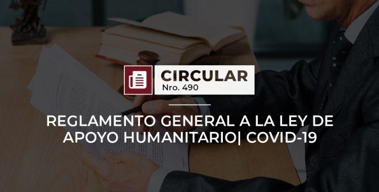 Reglamento general a la Ley de Apoyo Humanitario| COVID-19